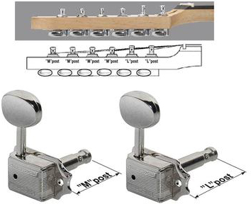 Toronzo Machine heads WILK-EZLOK-4M2L-Nickel