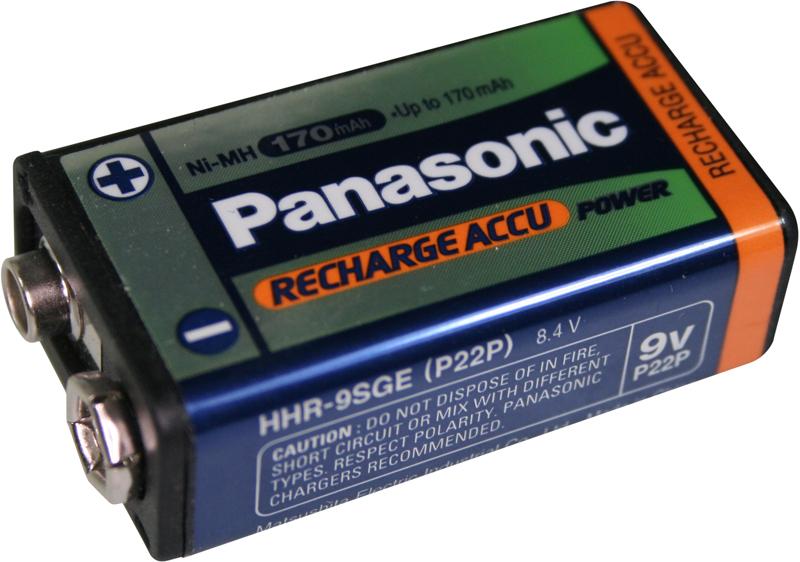 Panasonic 9V rechargeable