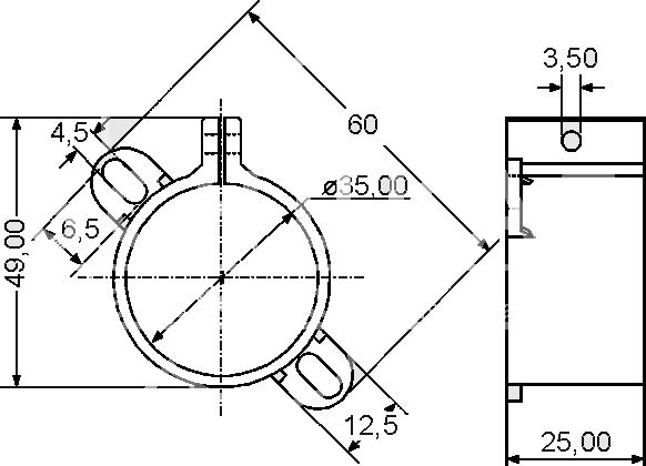 F+T Capacitor Clamp 35mm