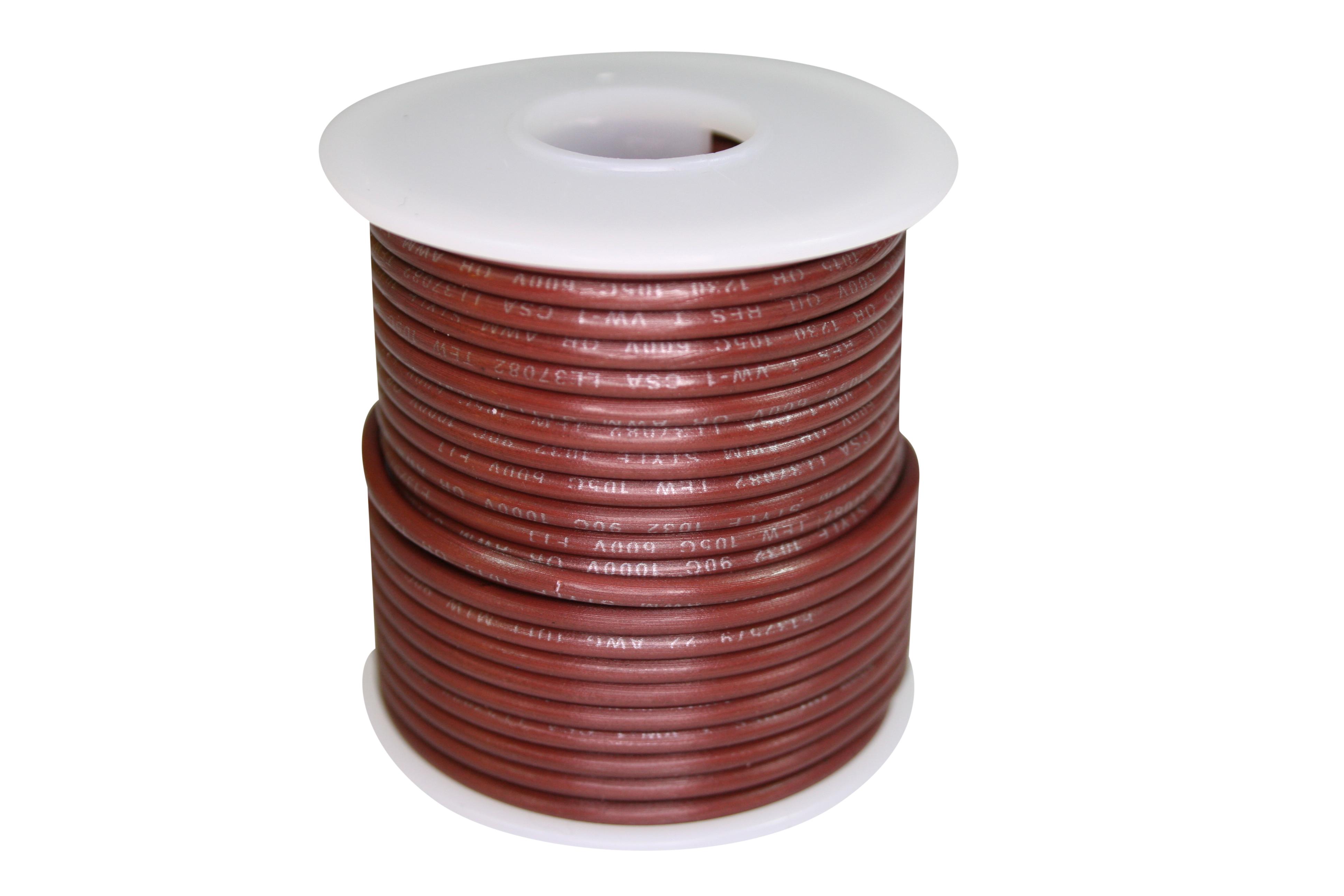 Wire 600V-STR-50ft Brown