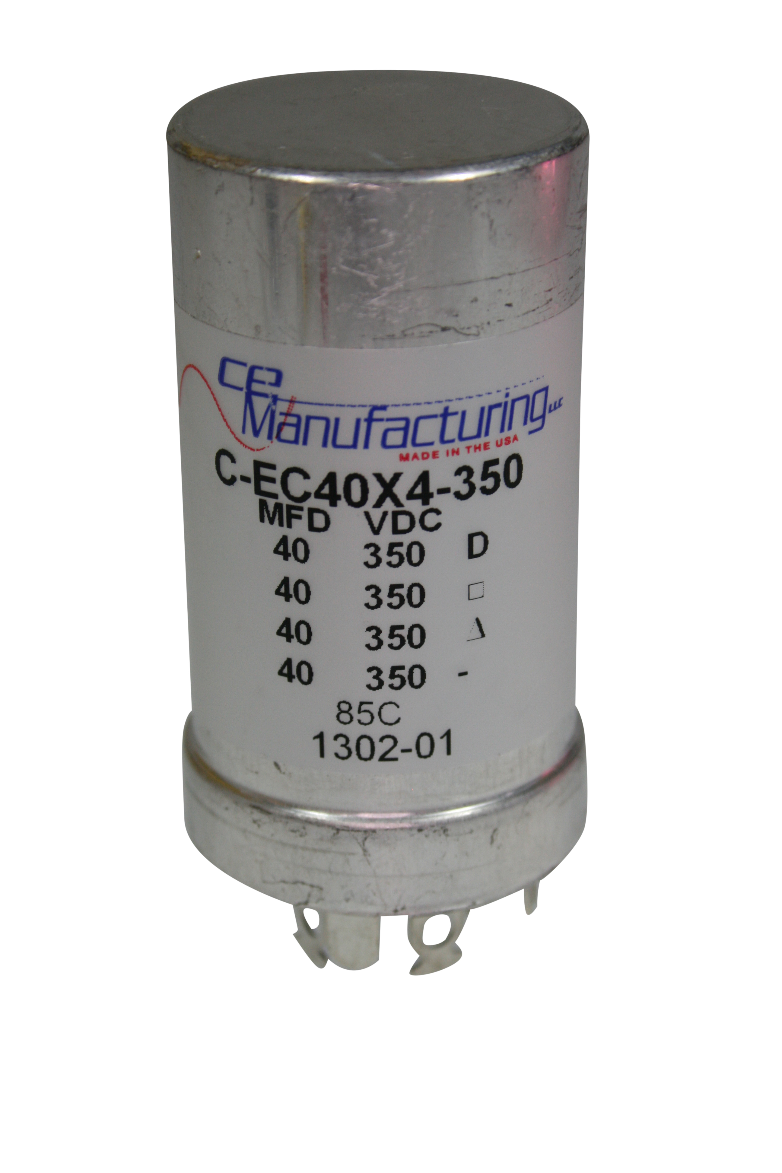 CE Mfg. 40x40x40x40uF, 350V