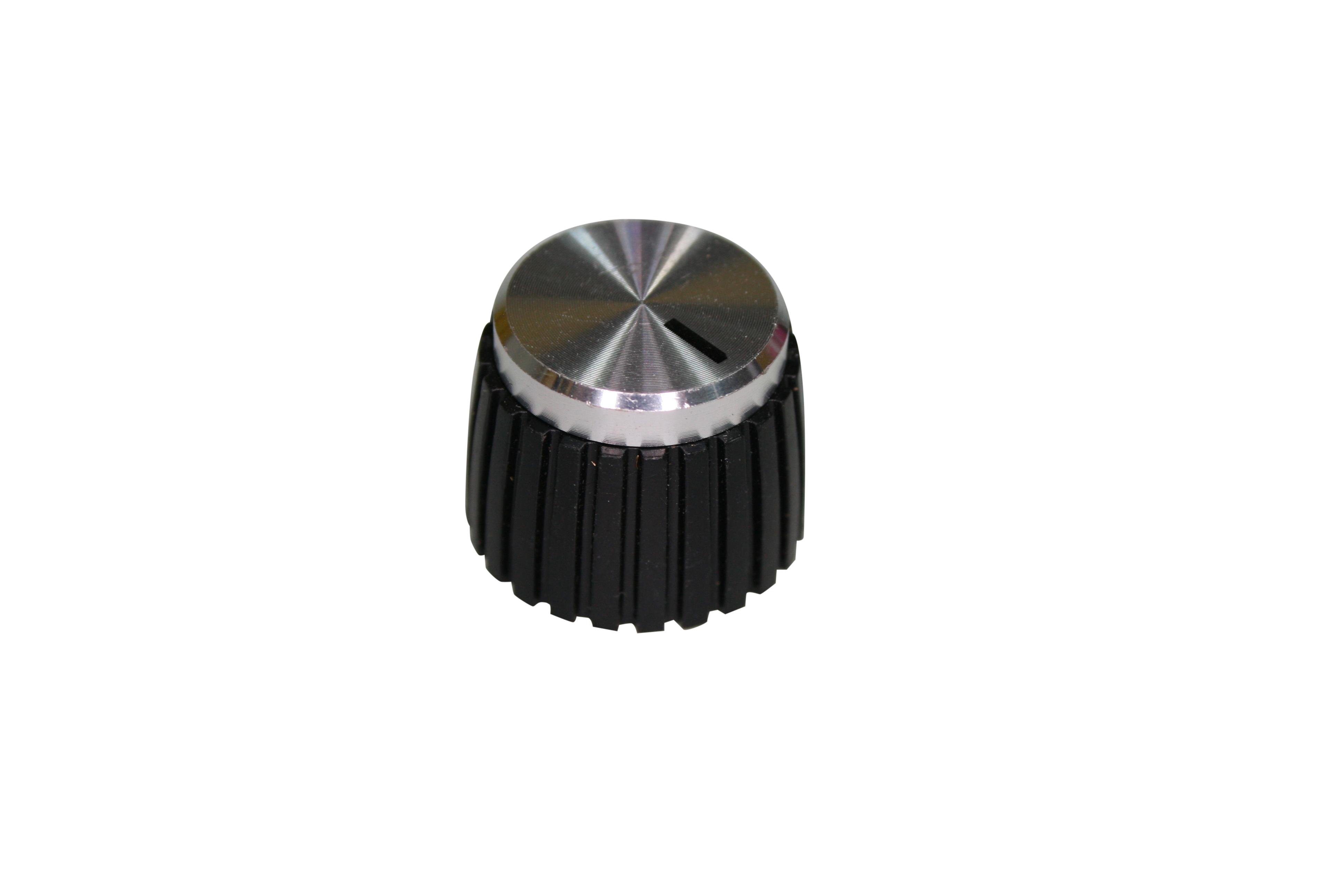 Stubby Black/Silver Knob