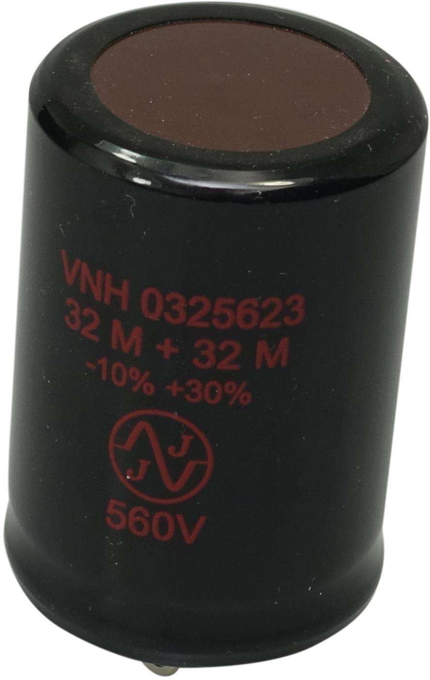 JJ 32+32uF, 560V radial