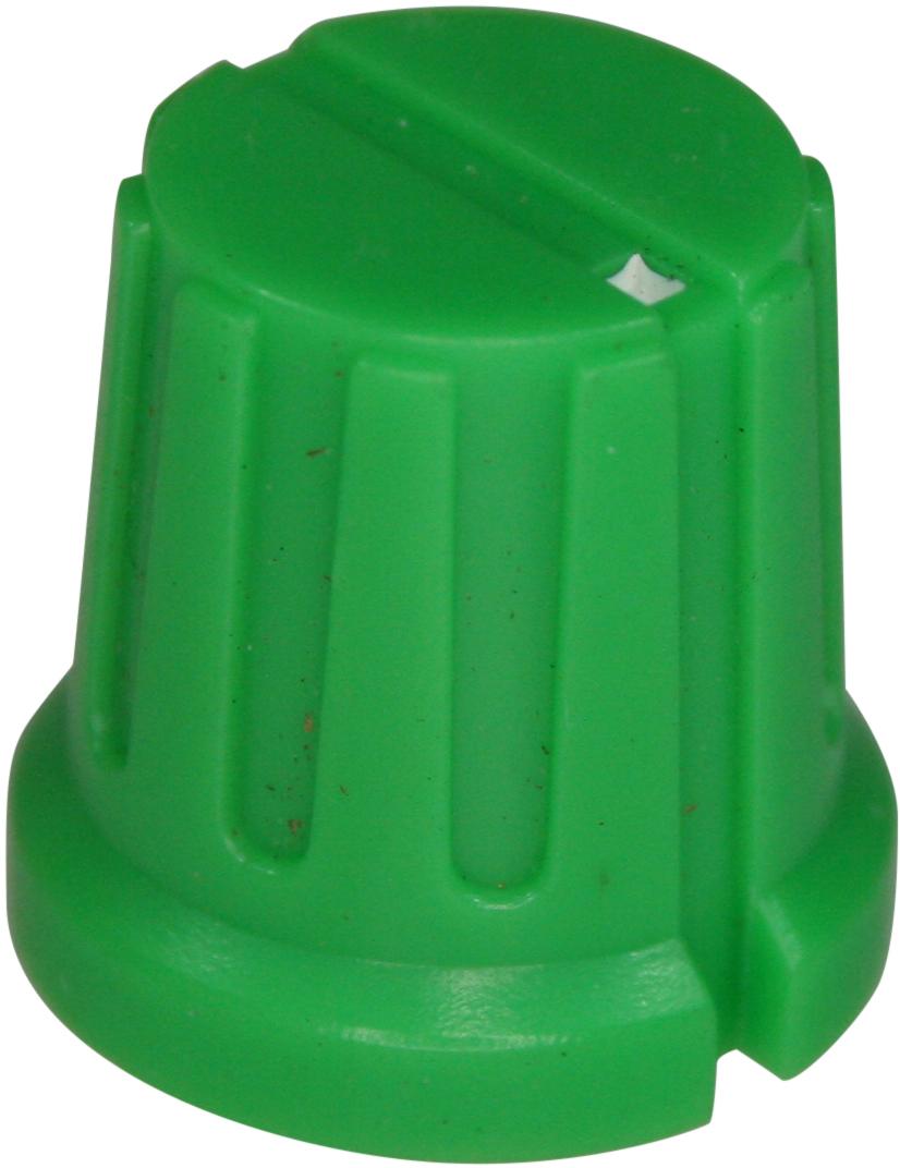 Ribbed knob Ribby-16-Green