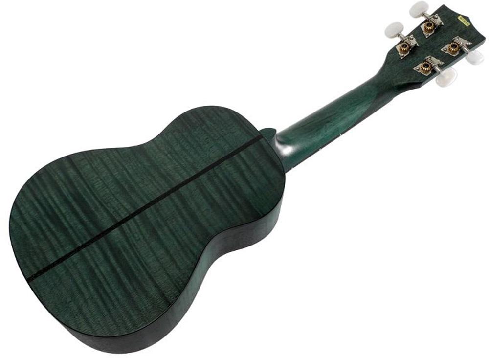 Kala Exotic Mahogany Soprano Ukulele Green