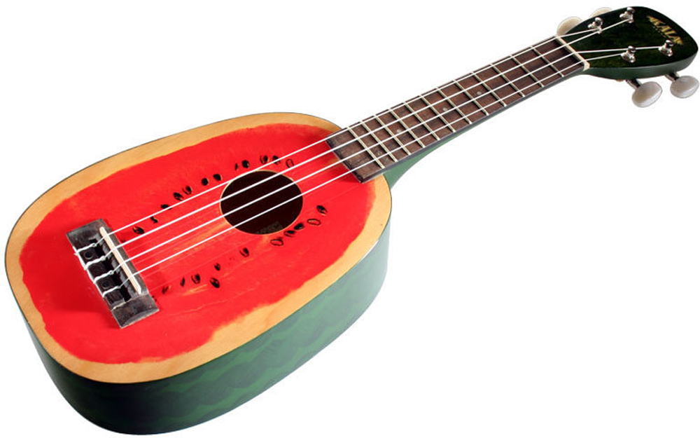 Kala Mahogany Ply Soprano Watermelon Ukulele