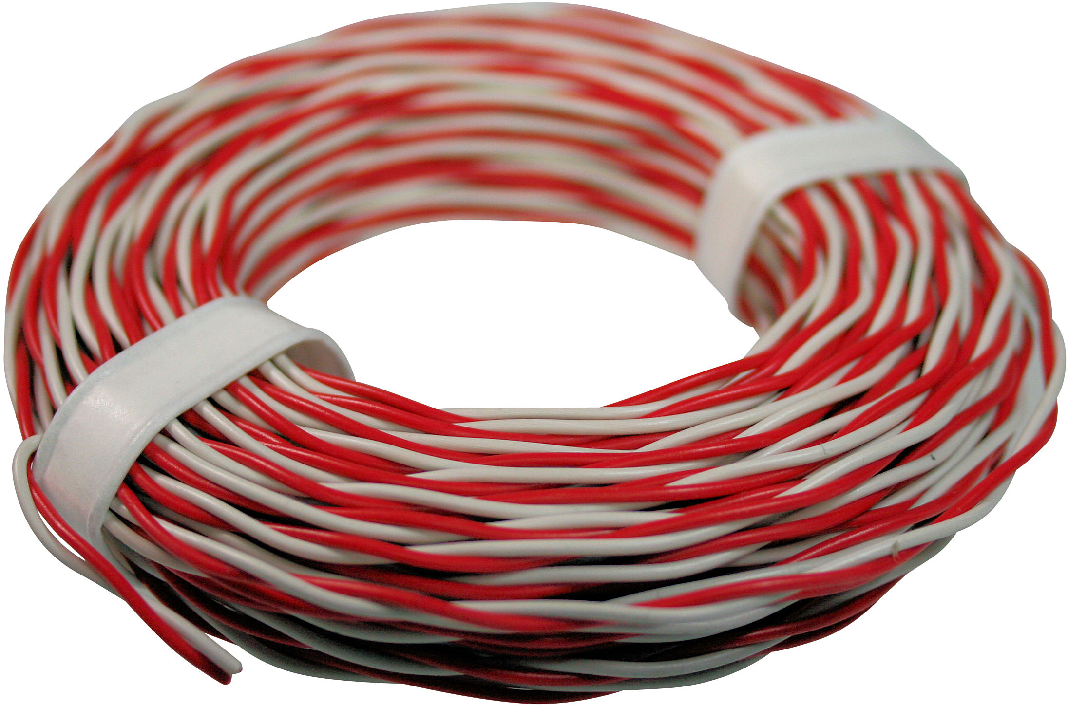 Twin Wire SC-0,5mm, rd/wh, 10m