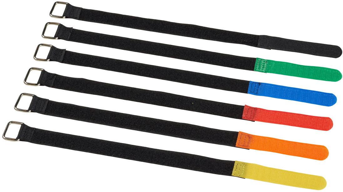 Velcro cable ties, 20x300mm, 10pcs, Yellow