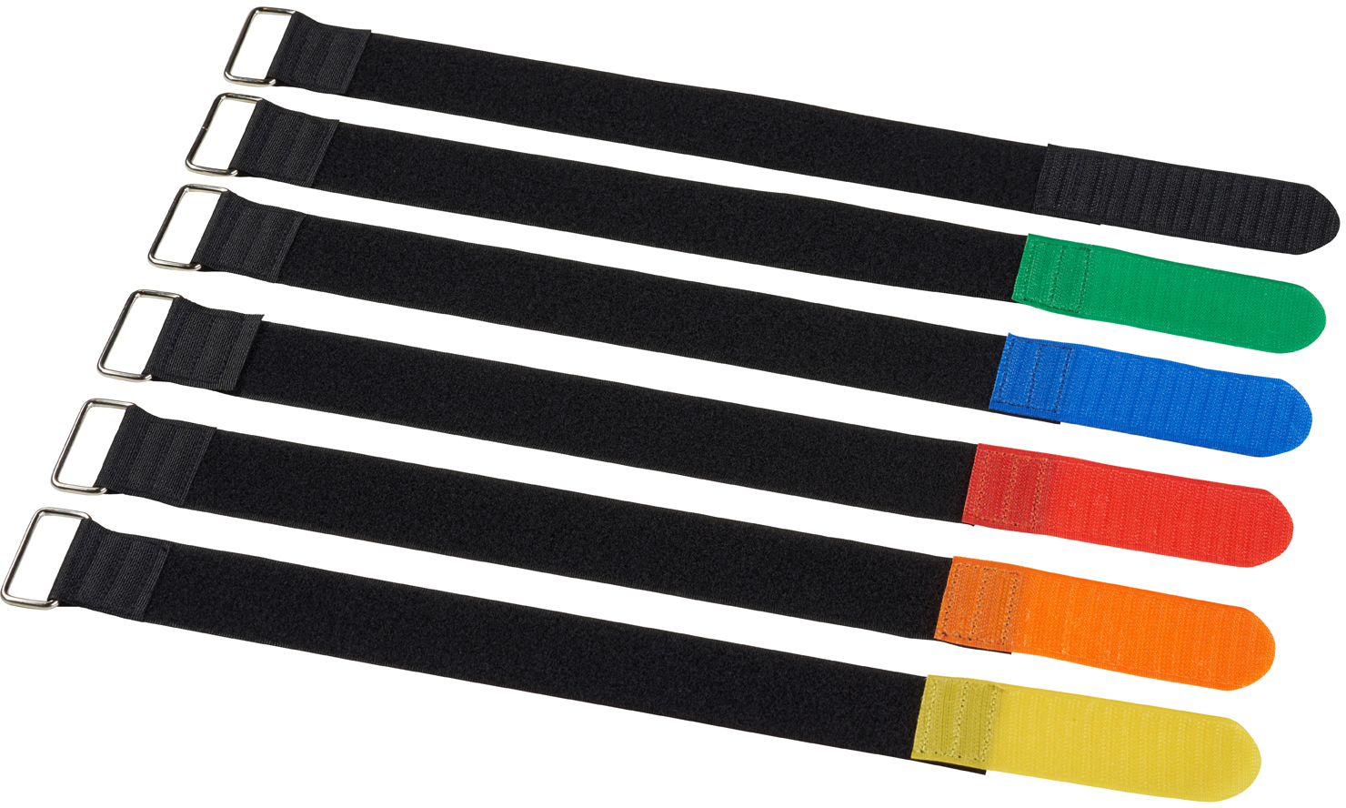 Velcro cable ties, 50x500mm, 10pcs, Yellow