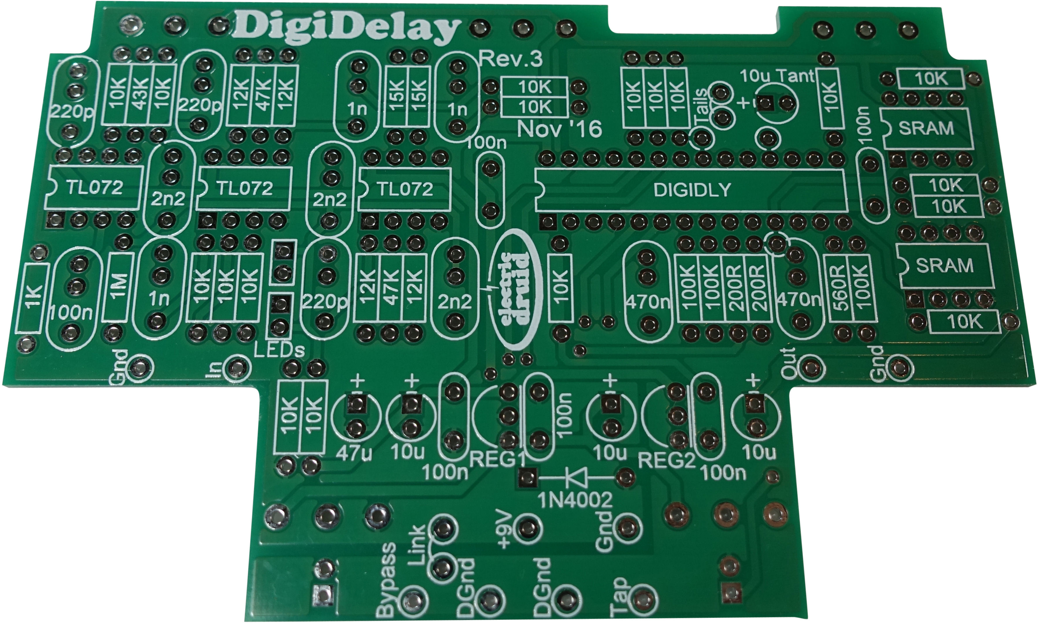 Electric Druid DIGIDELAY board