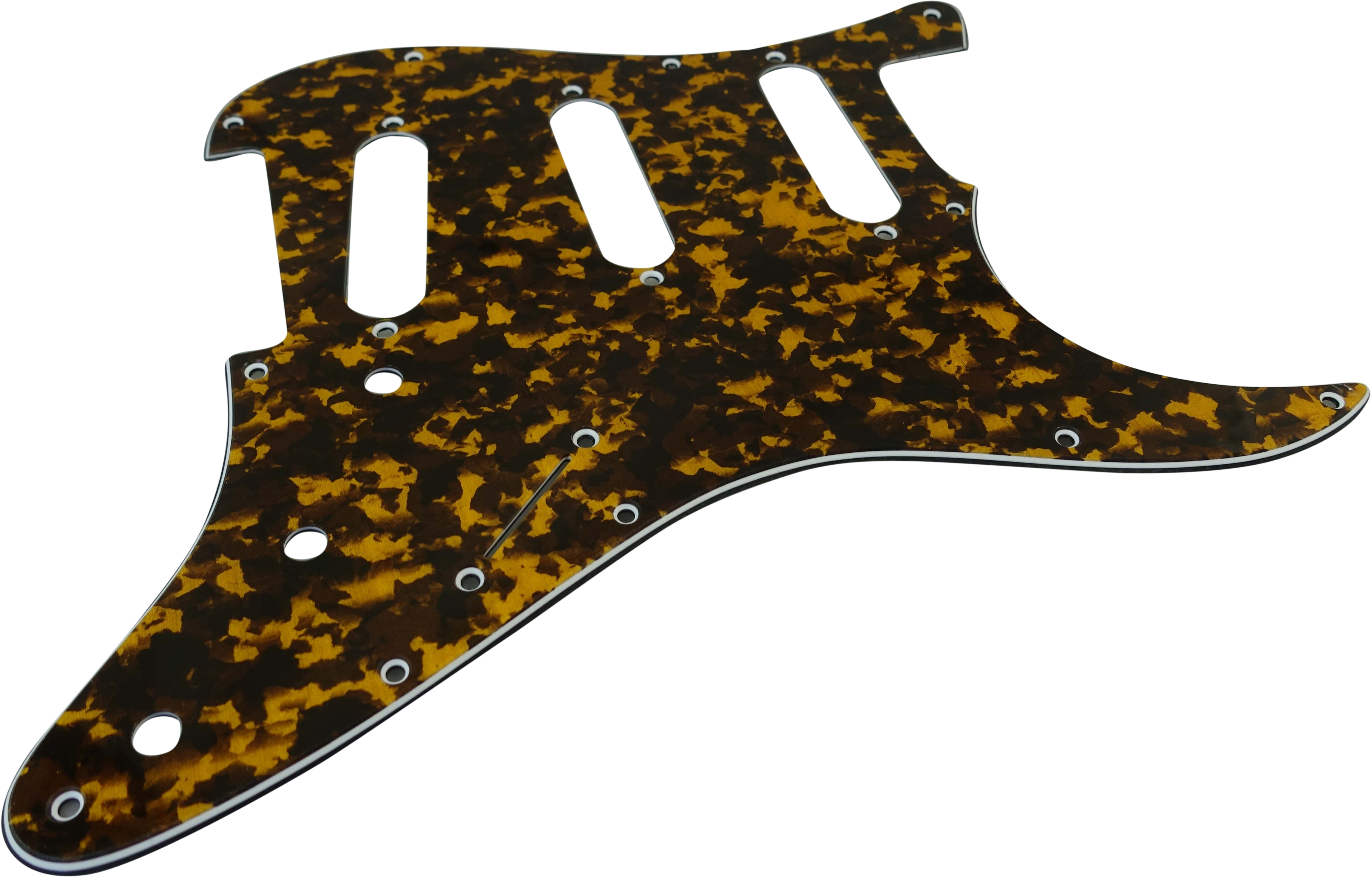 Toronzo Pickguard ST-SSS-3PLY-Tiger Yellow