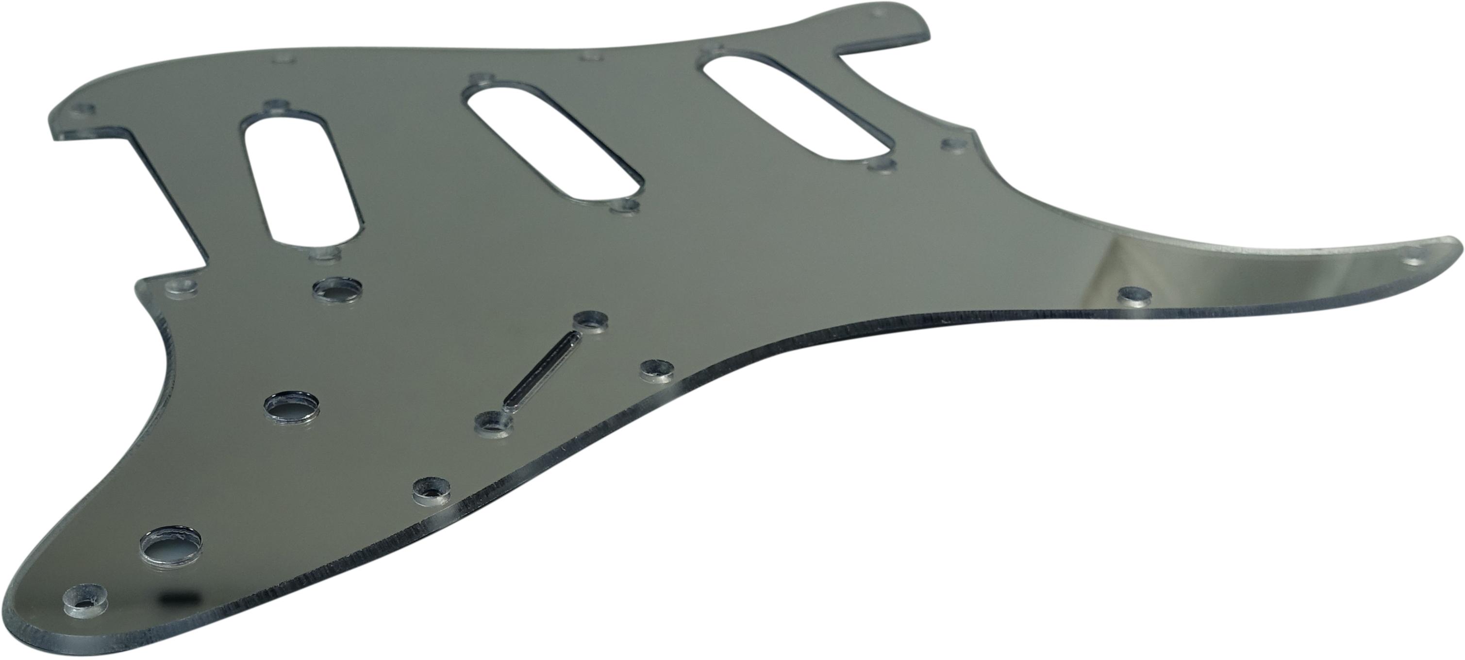 Toronzo Pickguard ST-SSS-2PLY-Mirror Chrome