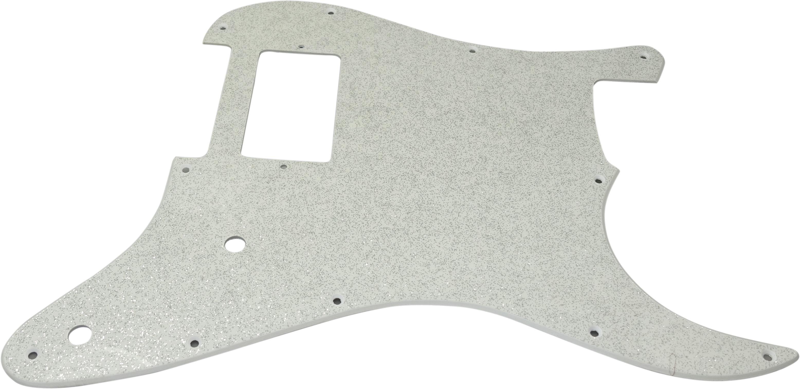 Toronzo Pickguard ST-H-2P-2PLY-Sparkle Silver