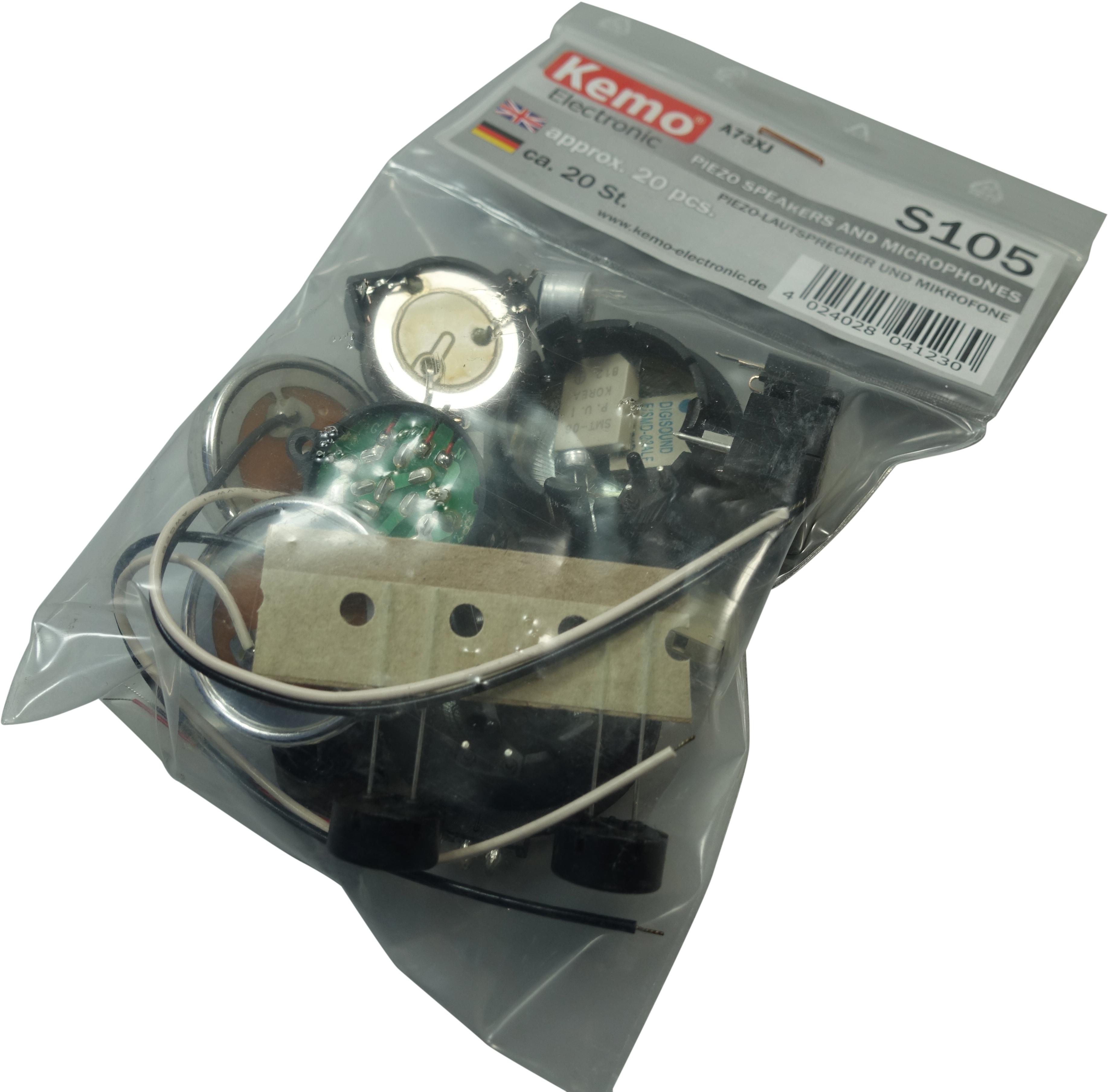 Piezo Speaker and Microphone Pack