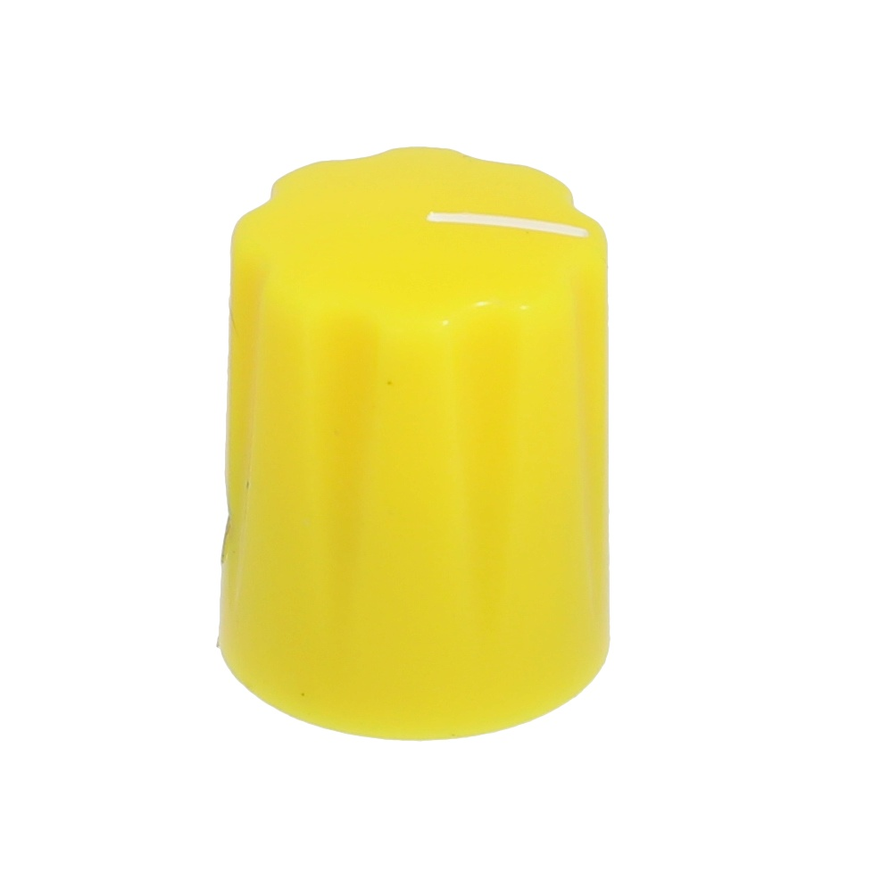 Mini-Fluted knob yellow