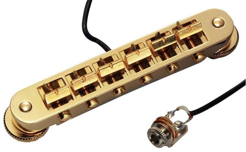 Schaller E-Guitar bridge GTM Piezo Gold