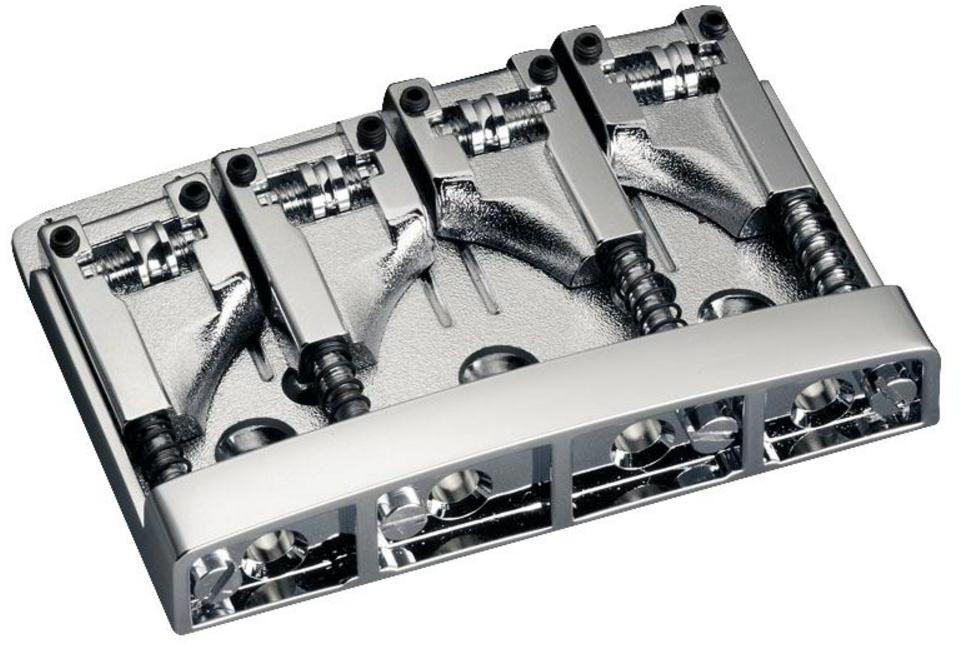 Schaller E-Bass-bridge 3D-4. 4-string. Nickel