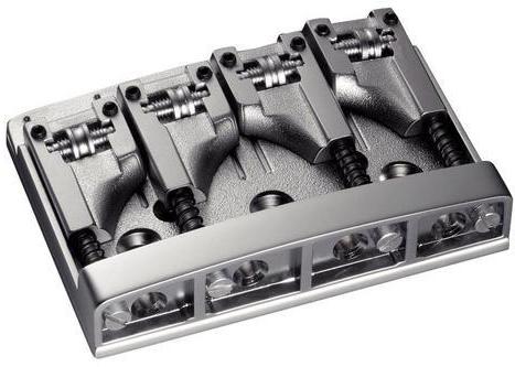 Schaller E-Bass-bridge 3D-4 4-string Satin Chrome