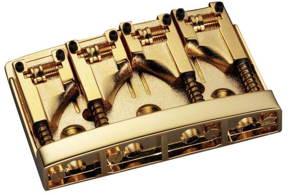 Schaller E-Bass-bridge 3D-4 4-string Gold
