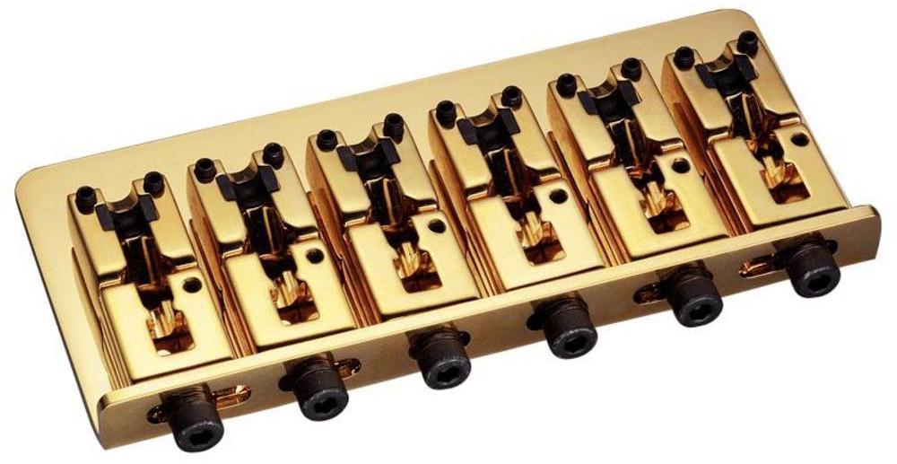 Schaller E-Bass-bridge 2000 6-string Gold