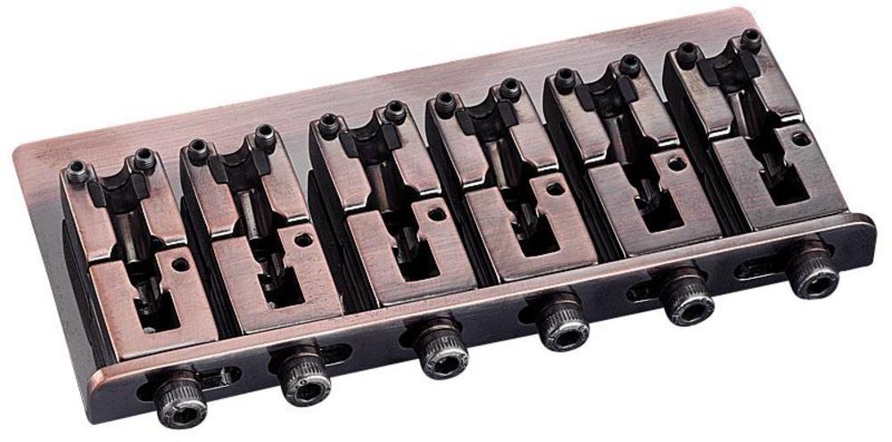 Schaller E-Bass-bridge 2000 6-string Vintage Copper