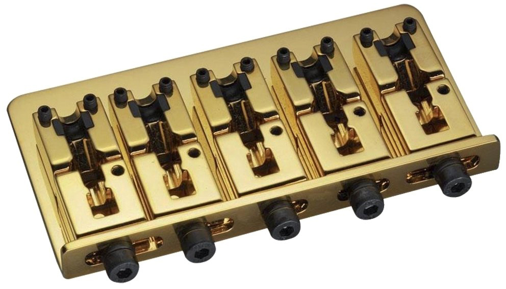 Schaller E-Bass-bridge 2000 Piezo 5-string Gold