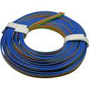 Quad Wire 0,25mm, bl/ye/rd/gn, 5m