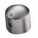 Schaller Brass Dome knob - Satin Chrome