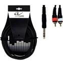 Alpha Audio Y cable ST-RCA-3m