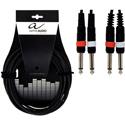 Alpha Audio Twin cable 2MO-2MO-3m