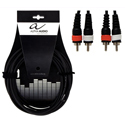 Alpha Audio Twin cable 2RCA-2RCA-3m