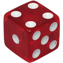 Dice Knob Red Opaque