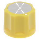 Synth knob Synthie-3 Yellow