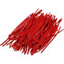 Pre-cut Wire 0,5mm, red, 5cm, 100pcs