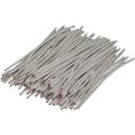 Pre-cut Wire 0,5mm, white, 5cm, 100pcs