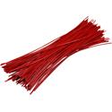 Pre-cut Wire 0,25mm, red, 10cm, 100pcs