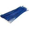 Pre-cut Wire 0,5mm, blue, 10cm, 100pcs