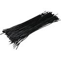 Pre-cut Wire 0,25mm, black, 12,5cm, 100pcs