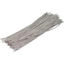 Pre-cut Wire 0,5mm, white, 12,5cm, 100pcs