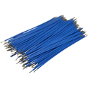 Pre-Cut-Stripped Wire 0,25mm, blue, 7,5cm, 100pcs