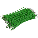 Pre-Cut-Stripped Wire 0,25mm, green, 7,5cm, 100pcs