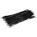 Pre-Cut-Stripped Wire 0,25mm, black, 10cm, 100pcs