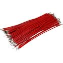 Pre-Cut-Stripped Wire 0,5mm, red, 10cm, 100pcs