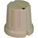 Ribbed knob Ribby-16-Cream