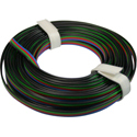 Quad Wire 0,25mm, bk/gn/rd/bl, 5m