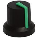 GNA knob ST-BLK-GREEN