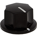 Artufo knob 20mm Black
