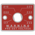 Voltage Selector Plate Red