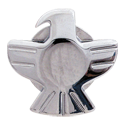 Grover Eagle Button, chrome