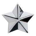 Grover Star Button, chrome